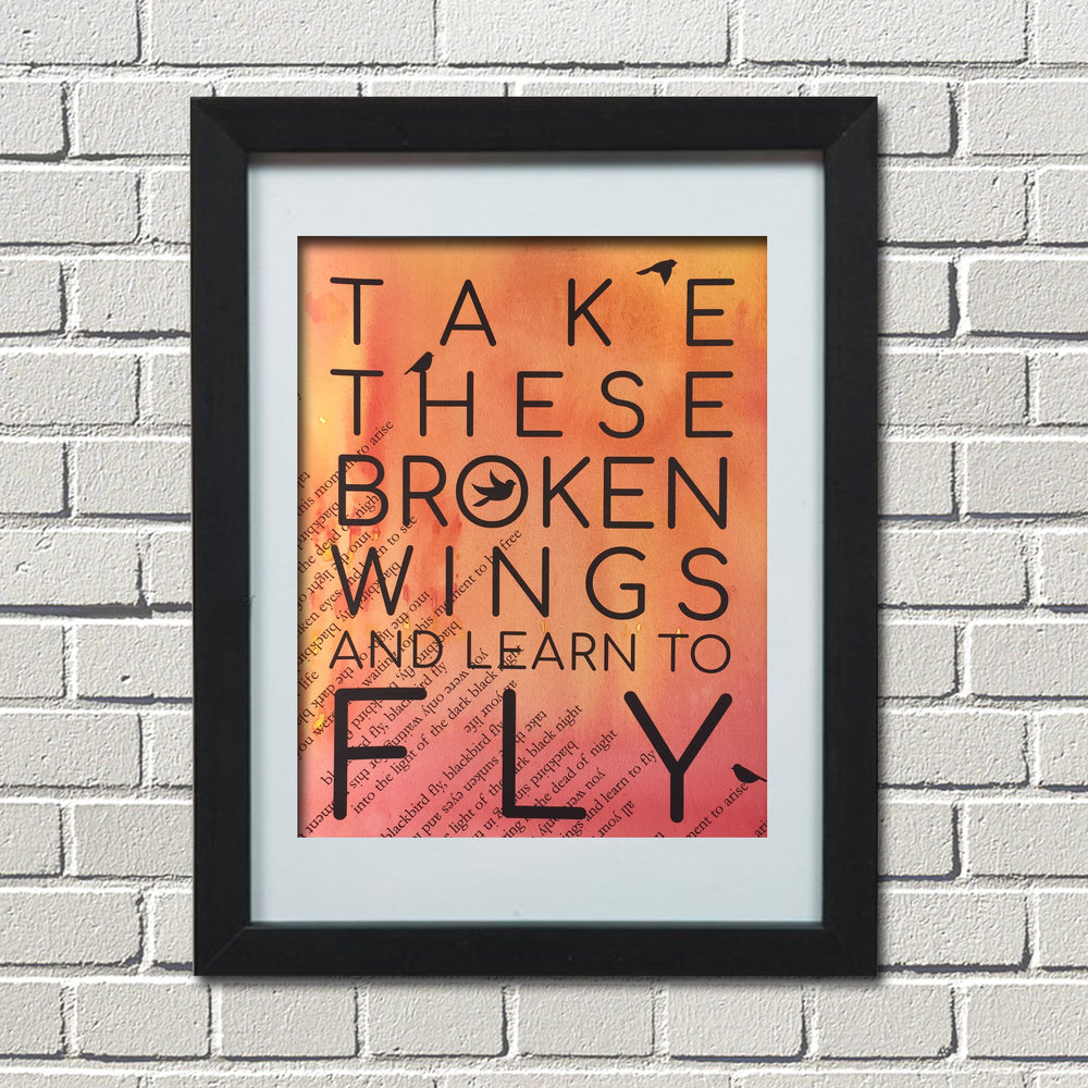blackbird, beatles, The Beatles, Take these broken wings and learn to fly