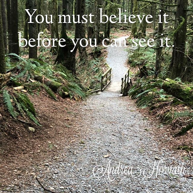 We often get this backwards, thinking we must see it to believe it. The truth is, to create something in your life, you must be able to visualize it, feel it and truly believe that it can happen before it will manifest. Spend time visualizing what you most truly desire and hold the belief that it has already happened. . . #manifest #create #co-create #visualize #success #goals