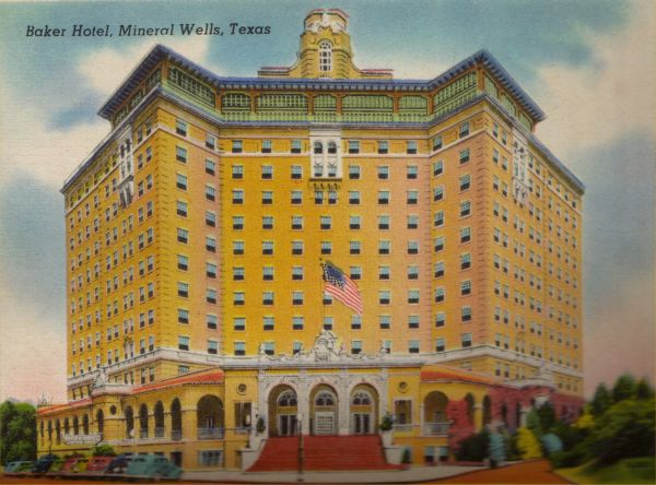 Postcard Of The Baker Hotel, Ca. 1930