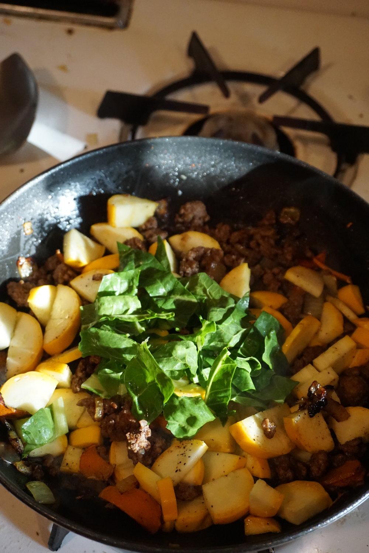 Turmeric Zucchini Hash