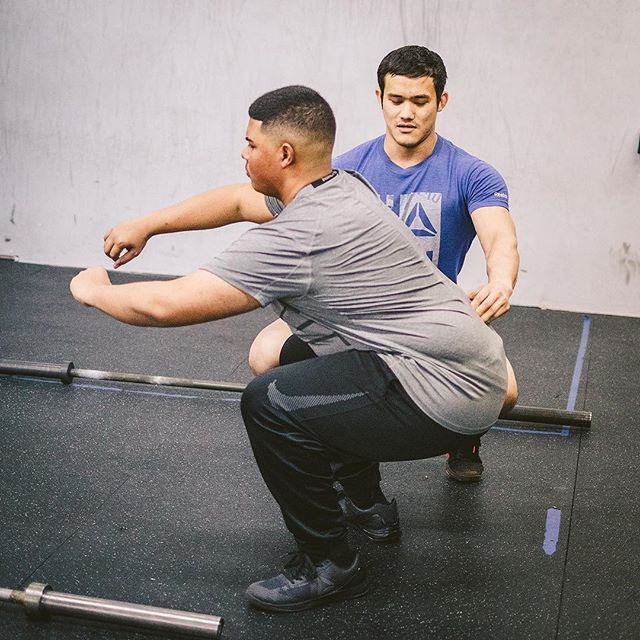 Coach Prabesh @Beshji helping Hector with his squat.  It doesn't matter how long you've been working out or doing CrossFit. The basics never stop being important.   #ridgewood #bushwick #glendale #bedstuy #crossfit #crossfitter #crossfitgames #crossfitcommunity  #crossfitlifestyle #crossfitters #crossfitfamily #fitspo #fitfam #health #fitness #fit #workoutmotivation #healthylifestyle #workout #gymshark #sport #gym #muscle #mobility #training #nopainnogain #fitnessaddict #power #lift #fitnessgoals