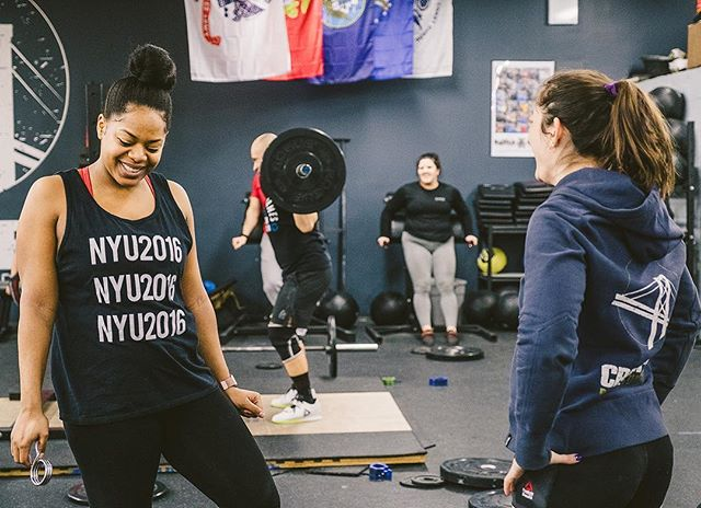 Not sure why sumo deadlift high pulls make @xx.kingme.xx dance but, whatever! 💃🏾  It's a beautiful day ☀️, the garage door is up and we've got a lovely CrossFit workout available for you.   Weightlifting with Coach @amusemici at 6:30pm.   #ridgewood #bushwick #glendale #bedstuy #crossfit #crossfitter #crossfitgames #crossfitcommunity  #crossfitlifestyle #crossfitters #crossfitfamily #fitspo #fitfam #health #fitness #fit #workoutmotivation #healthylifestyle #workout #gymshark #sport #gym #muscle #mobility #training #nopainnogain #fitnessaddict #power #lift #fitnessgoals