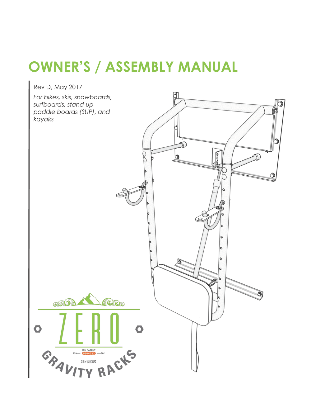 SAMPLE OWNER'S MANUAL -