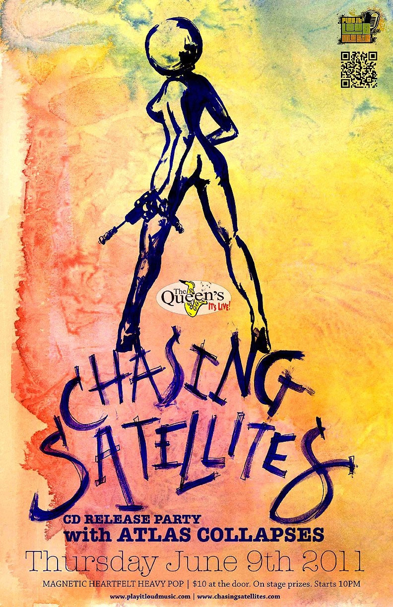 Chasing Satellites June 9th Cd Release Poster