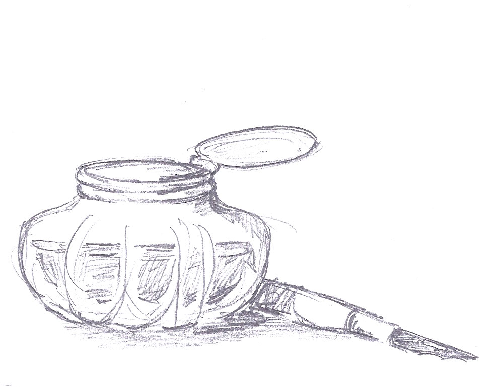 inkwell nib pen Laura Lavender