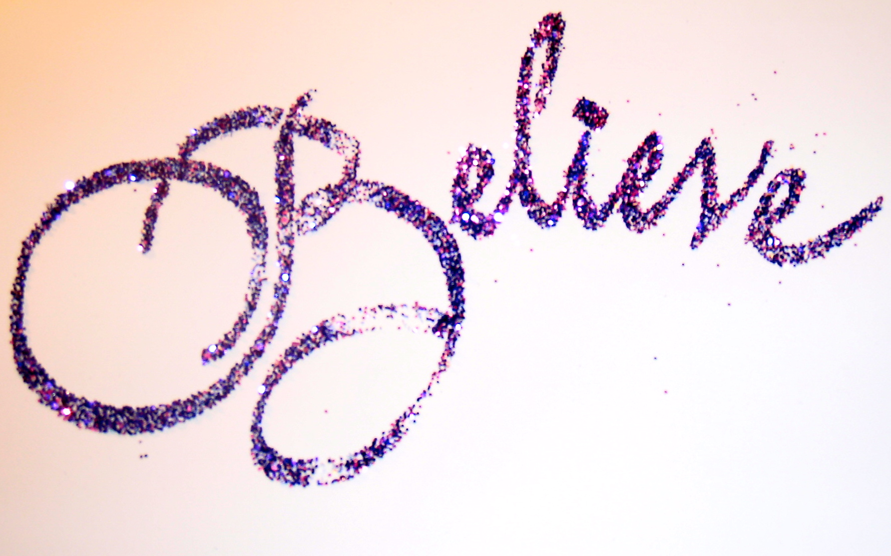 glitter writing calligraphy hand writing