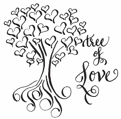 tree love pen ink