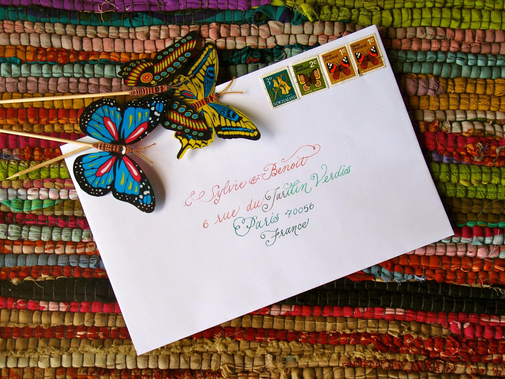 rainbow calligraphy