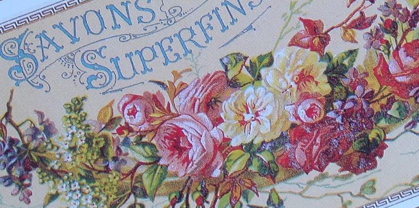 Vintage French Advertisement - Cartextpo Paris roses fleurs savon soap pretty jolie