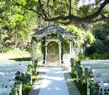 traditional wedding garden venue