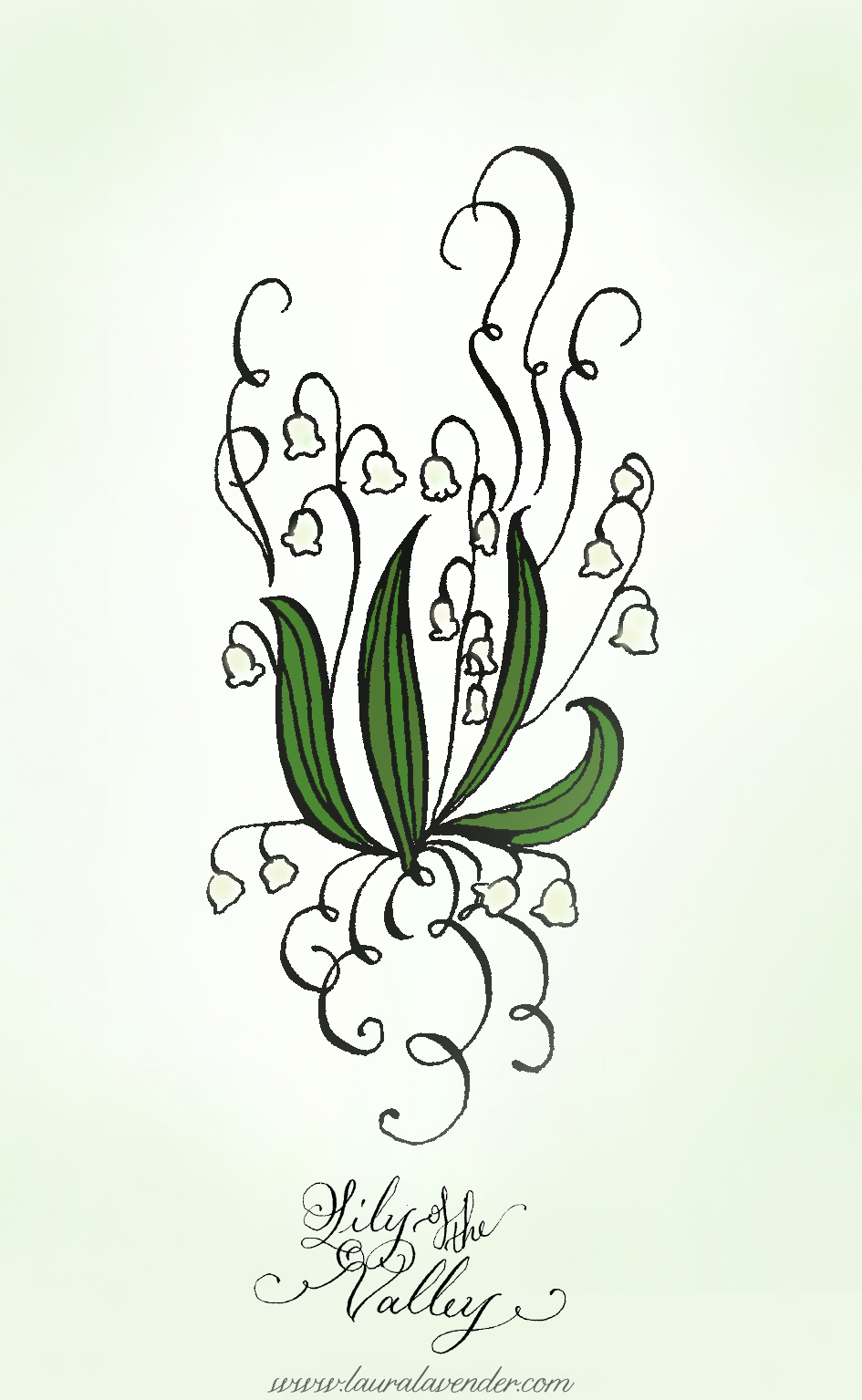 lily of the valley drawing art illustration