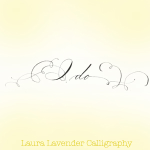 Laura Lavender Calligraphy I do weddings