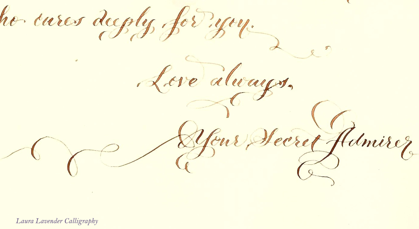 love letter2 by lavender calligraphy