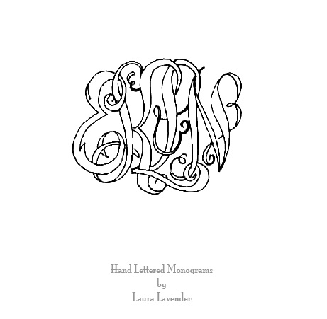 marriage monogram by LL