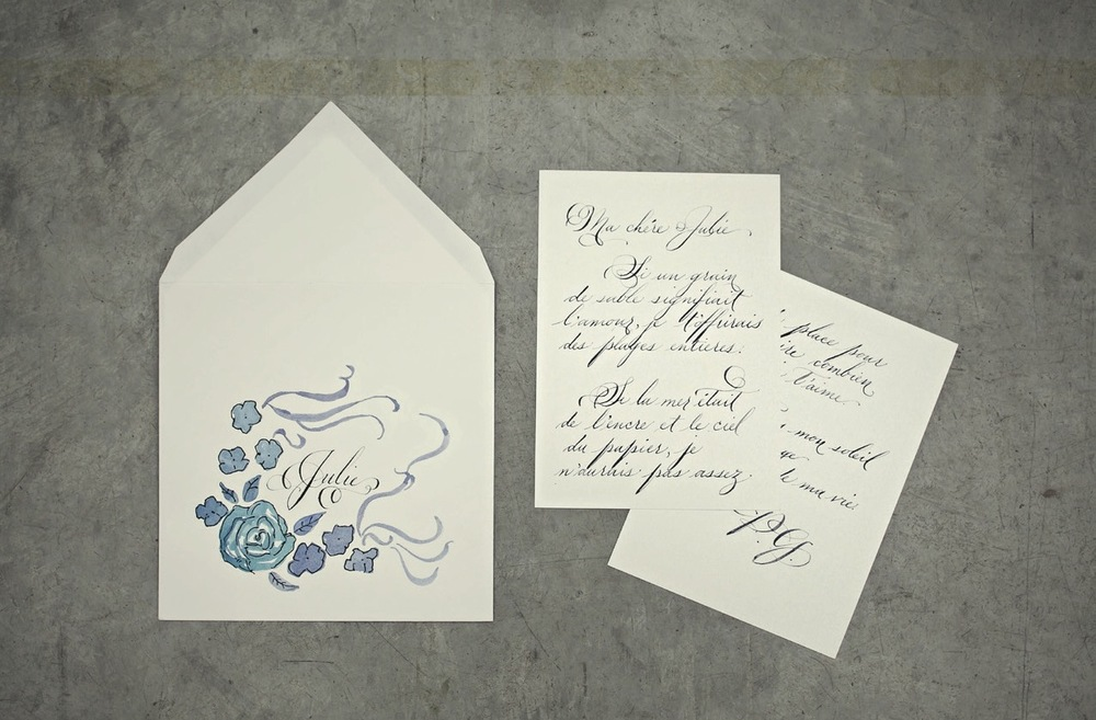 love note hand lettered calligraphy illustration love letter service