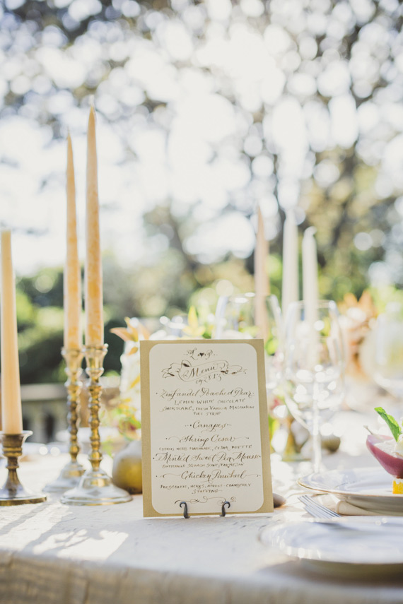 laura lavender calligraphy menu design
