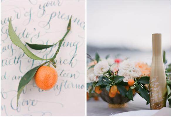 orange wedding laura lavender