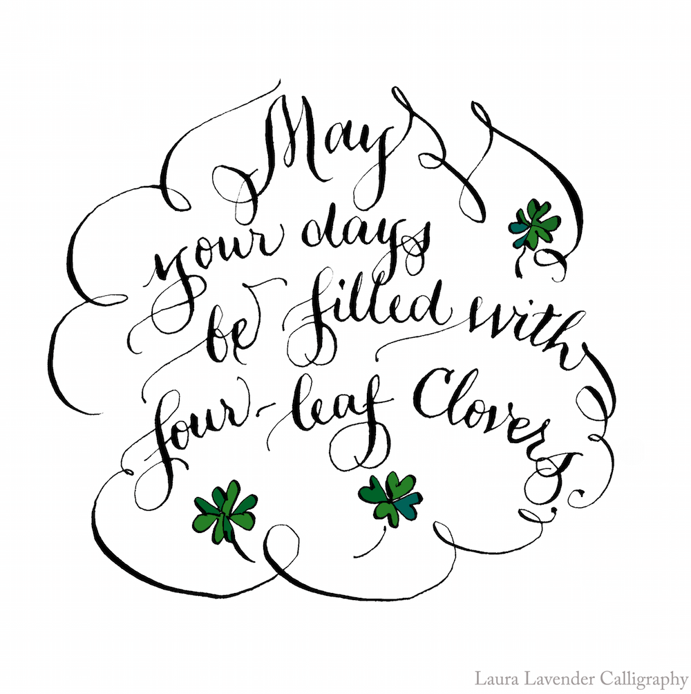 four leaf clovers st patricks day