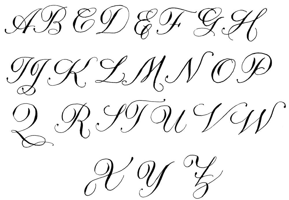 copperplate CAPITALS LAURA LAVENDER