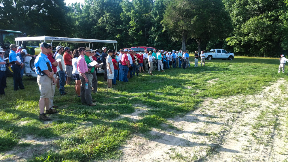 2017 NC State Tobacco Tour, Oxford Research Station. Early morning Dr Matthew Vann Crop and Soil Sciences_wb.jpg