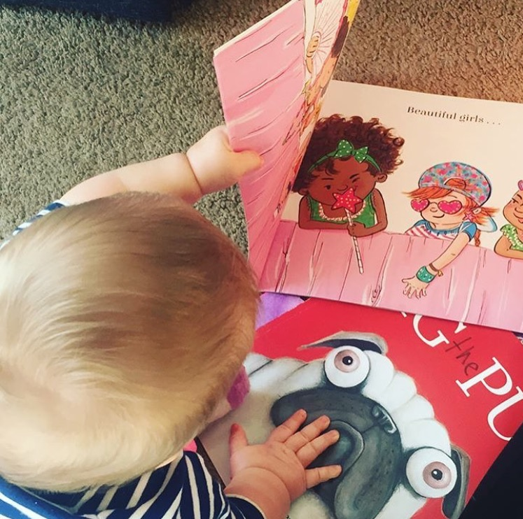 Another wee one reading Beautiful on Instagram from @lifeisgood10.