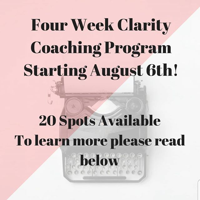 This program is for you if... ✔You feel like you are spinning your wheels most days and are not sure where to go next in your life ✔Want to live your life with purpose ✔Sick of  asking everyone else for their advice ✔Need to get crystal clear on what it is you want more of in your life ✔Ready to make a lasting shift and change in your life and start showing up for yourself  What I can help you achieve... ✅Clarity and boundaries in any area of your life ✅Tools to support you along your journey ✅Setting healthy boundaries and breaking old patterns ✅Removing stagnant energy from your life so you can live with purpose ✅Self-care and self-love practices ✅Focusing on the key areas of your life that you want to correct and change course in relationships, career, passions, spirituality, life purpose ✅Learning and Implementing my 3 W's to quick clarity  What to expect in our four weeks together... ✔Personal emails and video content from me ✔Unlimited email and text support Mon-Sat 9am to 8pm ✔1x Weekly Distant Rieki energy treatment ✔1x Weekly Intuitive card reading ✔weekly Facebook lives in a private group  Bonus... You will have continued email and text support for two weeks after our four weeks making our time together six weeks  to help you succeed in implementing your new changes.  If you are interested in gain clarity and making huge shifts check out the link in my profile or send me a dm with any questions!  Light and Love,  Danielle