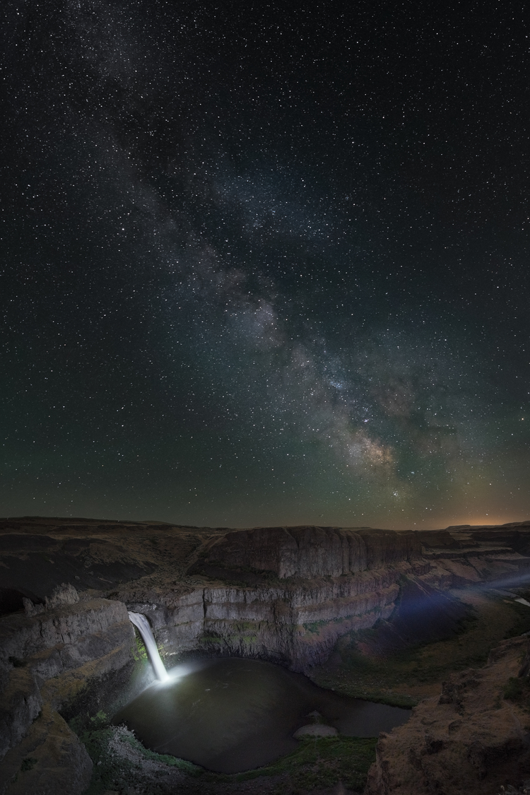 landscape, photography, palouse falls, night sky