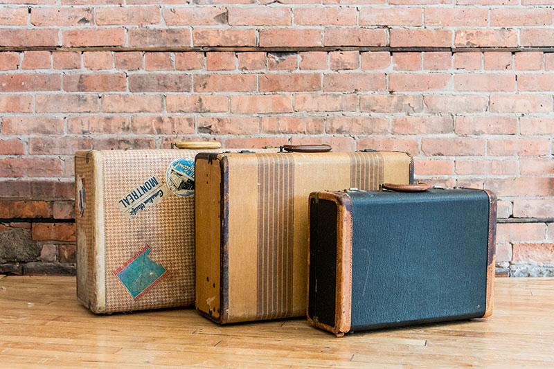 Variety of Vintage Suitcases