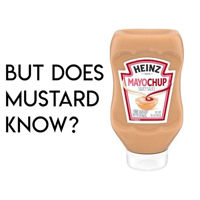 Just asking the real questions here. . What do you think of the new condiment?