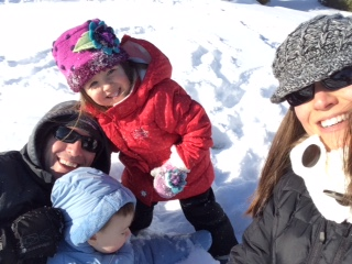 We may have had to reschedule Jagger's party, but at least we got an unexpected day to play in the fluffy white stuff!