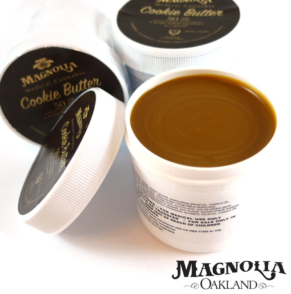 Magnolia Cookie Butter, an edible product containing 50mg THC.