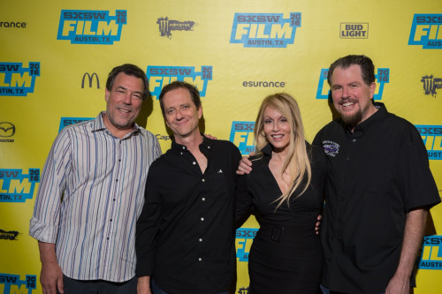 (L-R) Paul Pepperman, A. MIchael Baldwin, Kathy Lester, Don Coscarelli