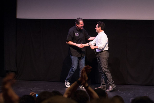 (L-R) Director Don Coscarelli and Director J.J. Abrams