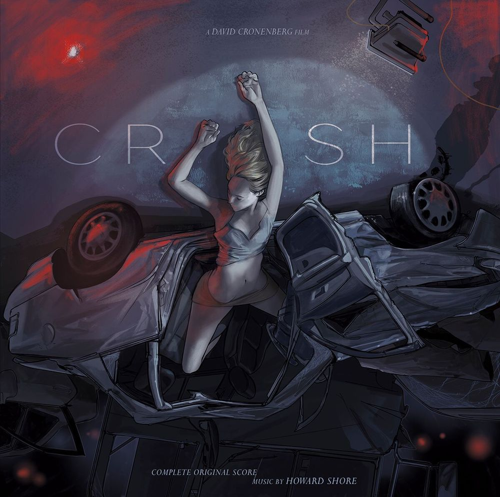Crash (1996) - Original Motion Picture Soundtrack 2XLP Music by Howard Shore Original Artwork by Rich Kelly 20th Anniversary.  First time ever on Vinyl Available online at mondotees.com this July $35