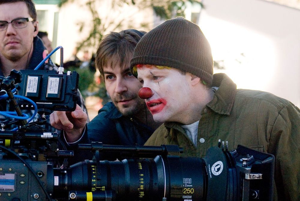 Director Jon Watts and Actor Andy Powers in CLOWN