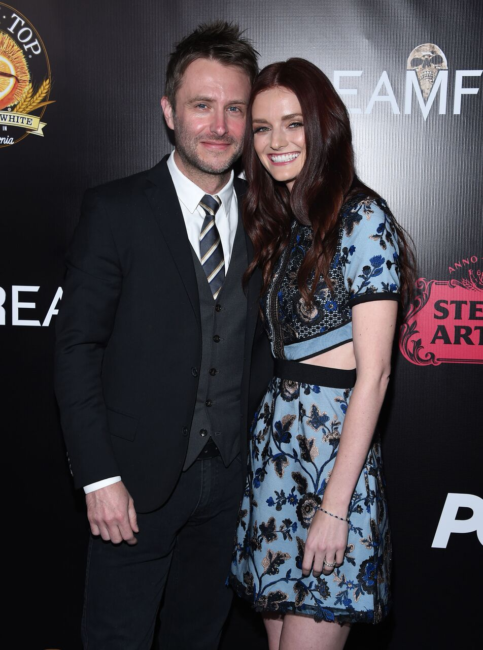 Ambassador for Screamfest, actress Lydia Hearst with husband Chris Hardwick
