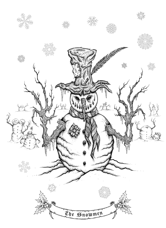 Mister Sam Shearons Creepy Christmas A Merry Macabre Coloring Book Is Available Now To Purchase Here Amznto 2dZXp6w
