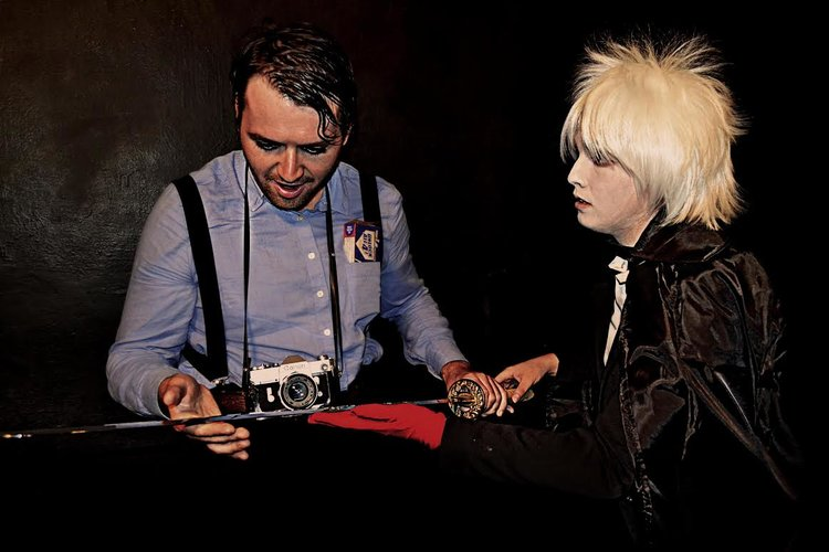 John Patrick D'Arcy as THE GUEST and Taylor Thorne as ABBY THE ALBINO