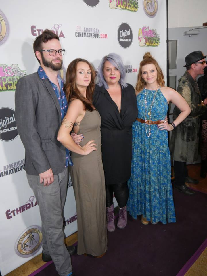 (L to R): Rob Senska, Sylvia Grace Crim, Mindy Bledsoe, Rachael Lee Boyd at the Etheria Film Festival