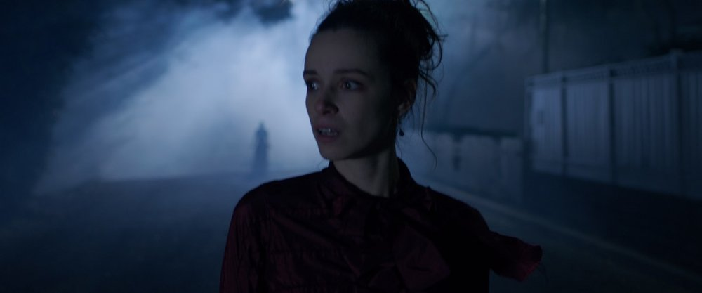 """Alex Essoe in """"Grim Grinning Ghosts"""" for  TALES OF HALLOWEEN"""