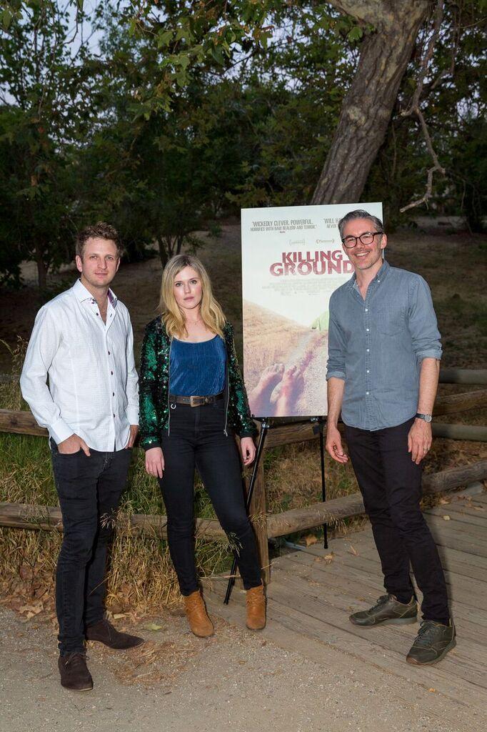 (L-R) KILLING GROUND cast members Aaron Glenane, Harriet Dyer and filmmaker Damien Power