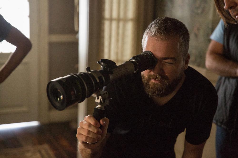 Director David F. Sandberg on the set of New Line Cinema's supernatural thriller ANNABELLE: CREATION, a Warner Bros. Pictures release (Photo Credit: Justin Lubin)