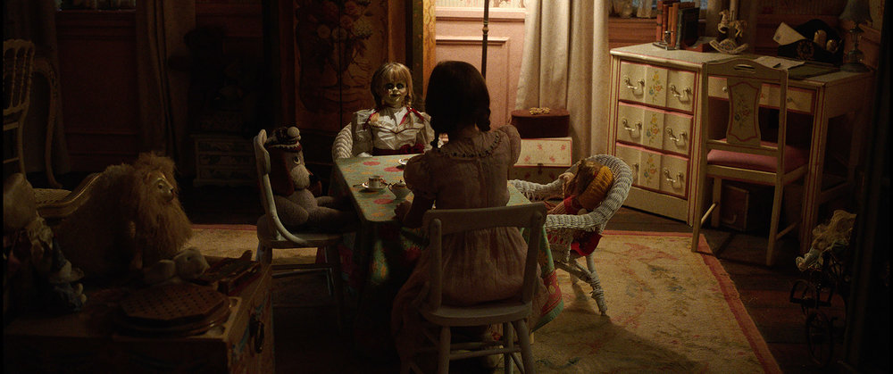 The Annabelle doll in New Line Cinema's supernatural thriller, ANNABELLE: CREATION, a Warner Bros. Pictures release (Photo Credit: Courtesy of Warner Bros. Pictures and New Line Cinema)
