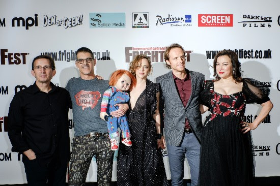 Tony Gardner, Don Mancini, Fiona Dourif, Adam Hurtig and Jennifer Tilly at Frightfest in London for Global Premiere of Cult of Chucky