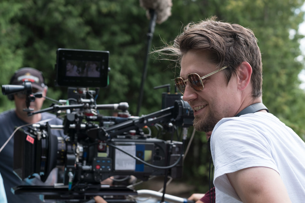 "Director Andy Muschietti on the set of New Line Cinema's horror thriller ""IT,"" a Warner Bros. Pictures release. (Photo Credit: Brooke Palmer)"