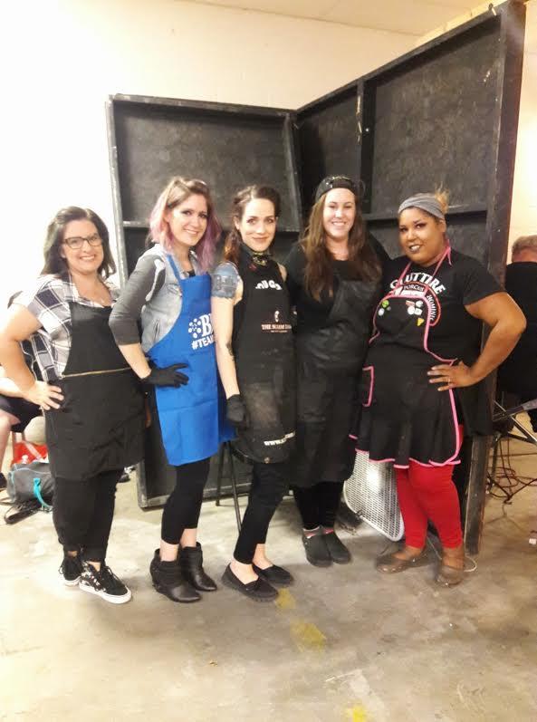 (L-R) Kristy Bradvica, Angela Santori, Haylee Detroit, Ariel Jay, Krystal Geannie