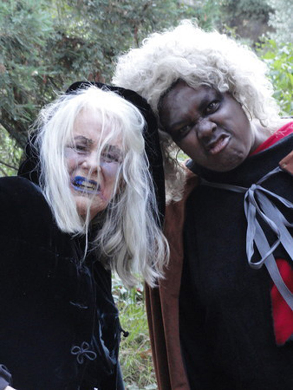 Ellen Geer and Earnestine Phillips cast a spell at Theatricum's annual BOO-tanicum (Photo by Amanda Salem)