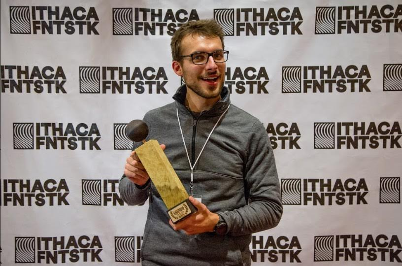 Eric Sonnenburg holds the Audience Award, International Competition