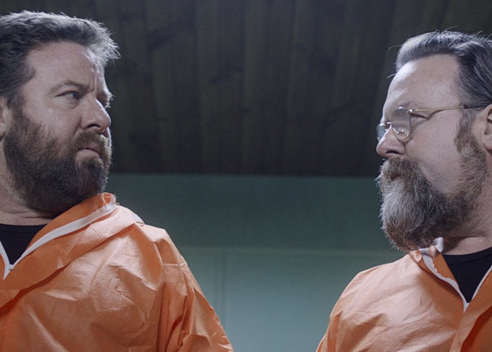 Shane Jacobson as Terry (Left), Clayton Jacobson as Jeff (Right) in Brother's Nest