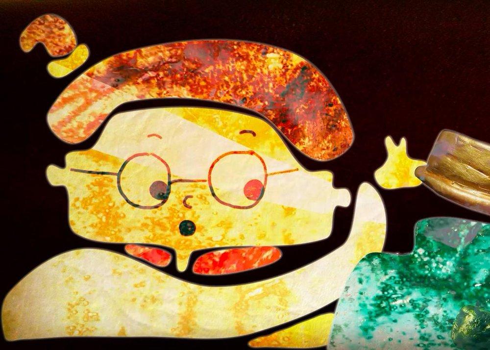 """Abnie encountering the pickle jar in """"Abnie Oberfork"""""""